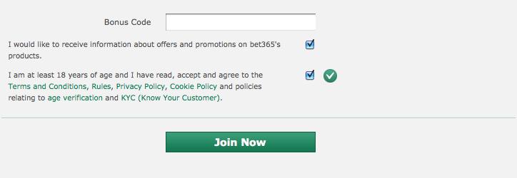 bet365 登録 ボーナス コード