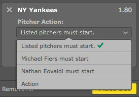 bet365 野球 Pitcher Action 意味