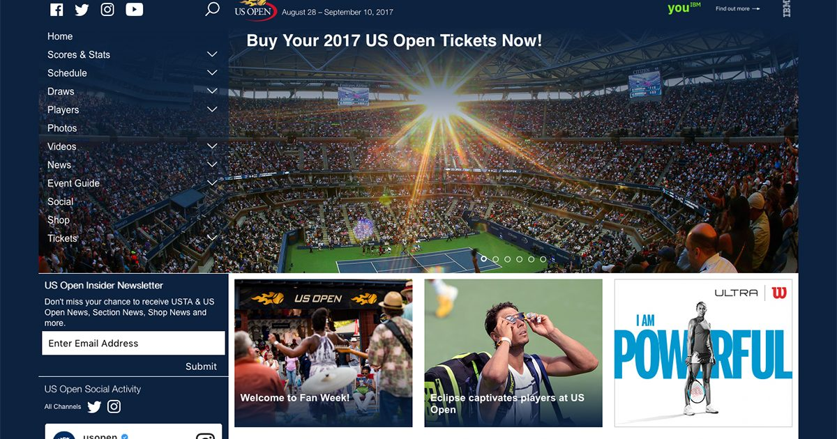 全米オープン,テニス,2017